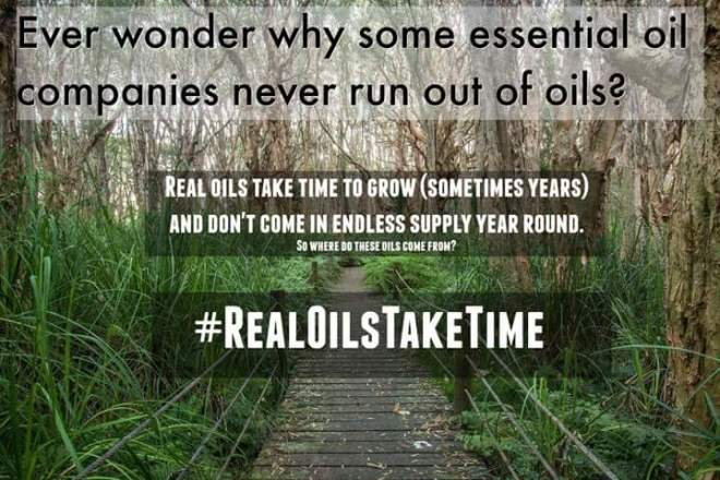 Real OIls Take TIme