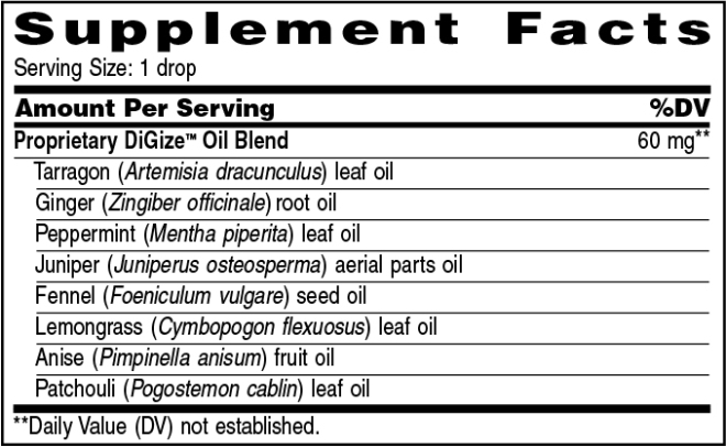 digize ingredients
