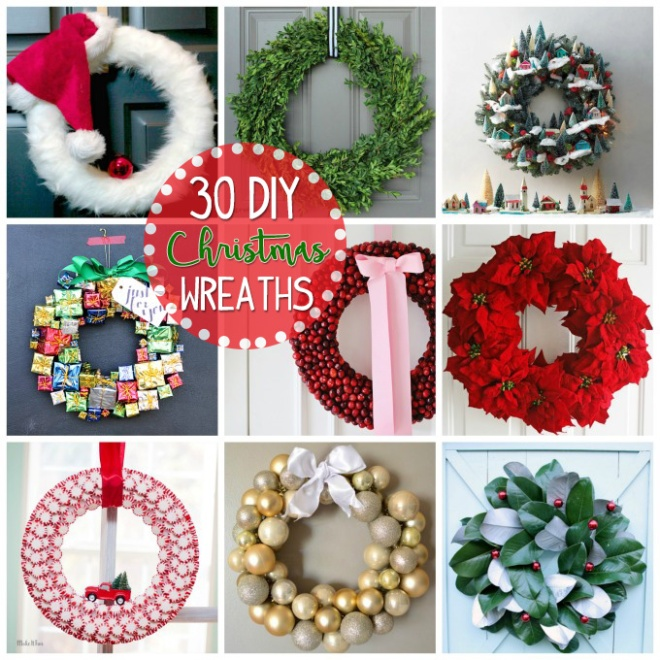 Creative Wreath Ideas: 30 DIY CHRISTMAS WREATHS